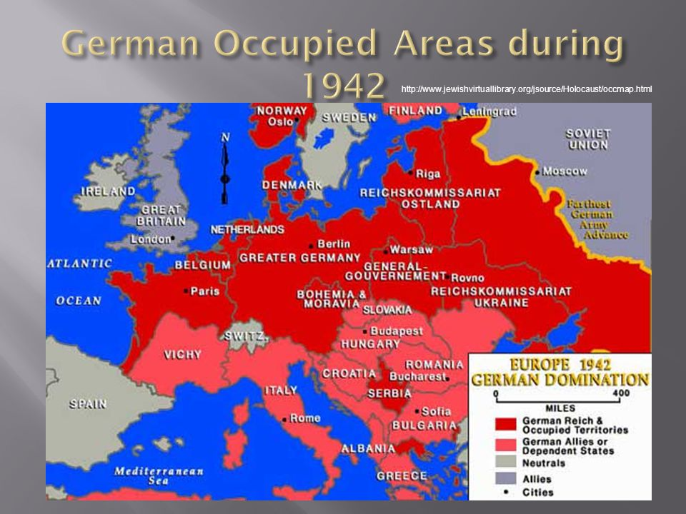 German Occupied Areas during 1942