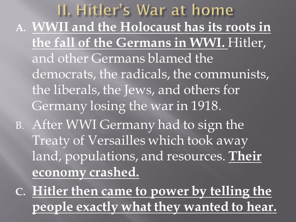 II. Hitler's War at home