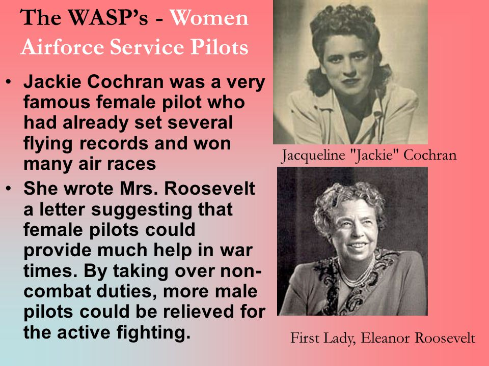 The WASP's - Women Airforce Service Pilots