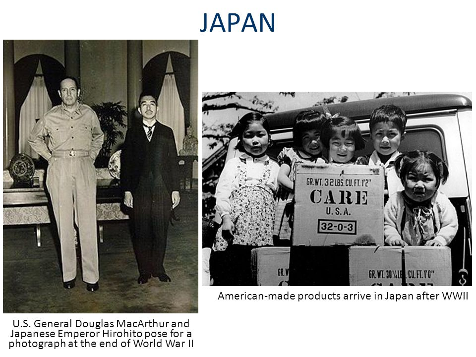 American-made products arrive in Japan after WWII