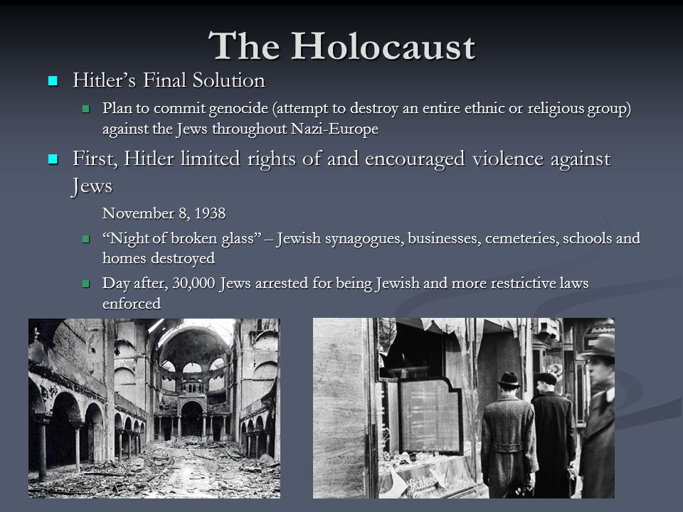 The Holocaust Hitler's Final Solution