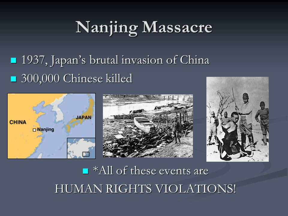 Nanjing Massacre 1937, Japan's brutal invasion of China