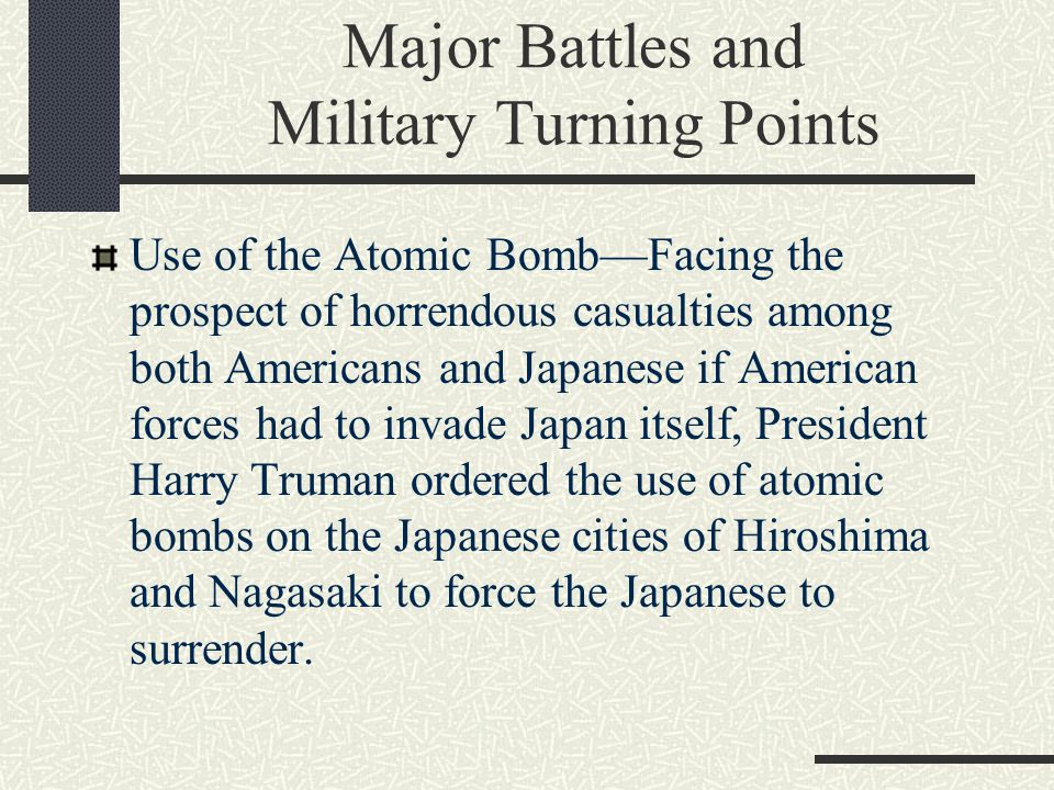 Major Battles and Military Turning Points