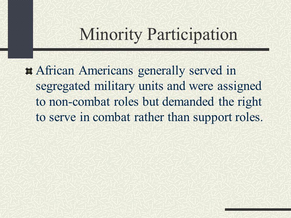 Minority Participation