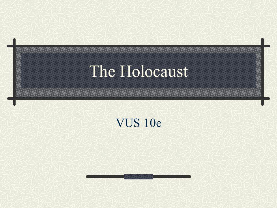 The Holocaust VUS 10e
