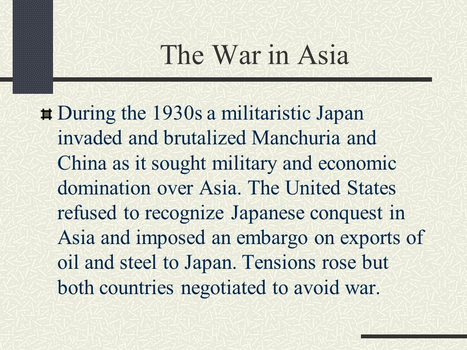 The War in Asia
