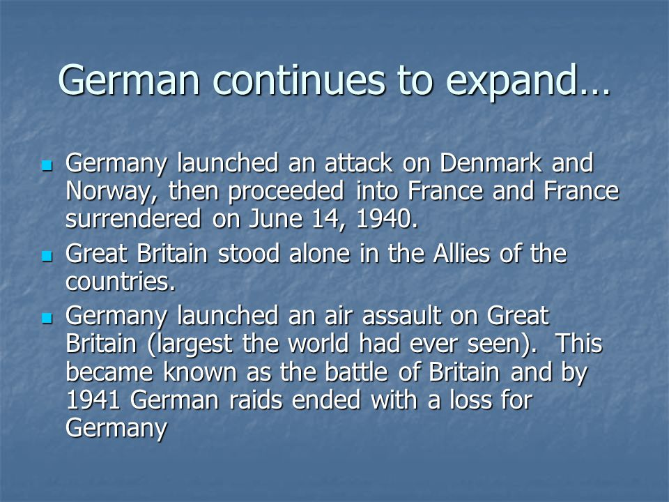 German continues to expand…