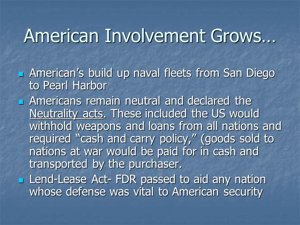 American Involvement Grows…