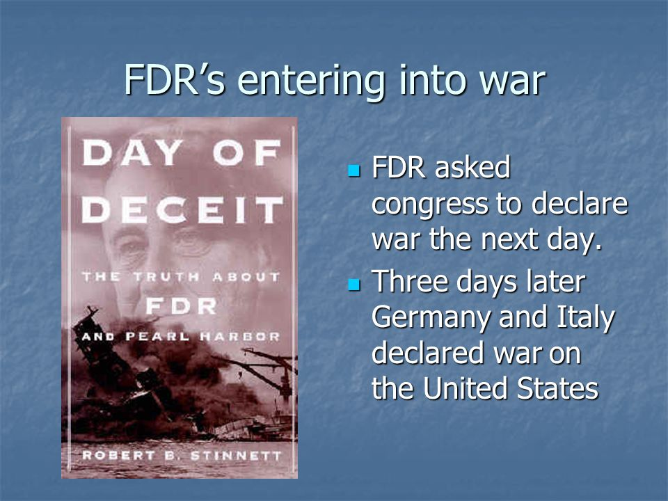 FDR's entering into war