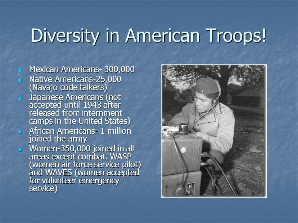 Diversity in American Troops!