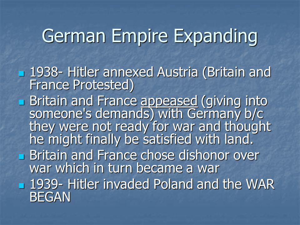 German Empire Expanding