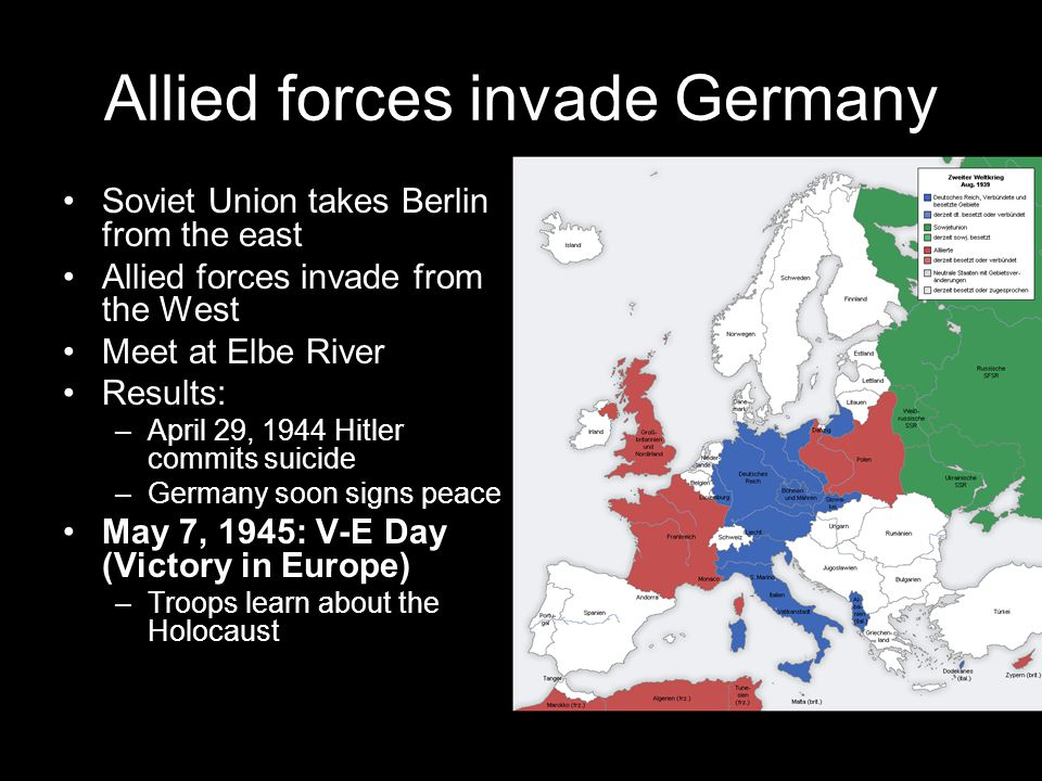 Allied forces invade Germany