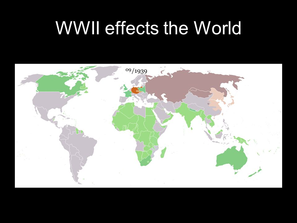 WWII effects the World