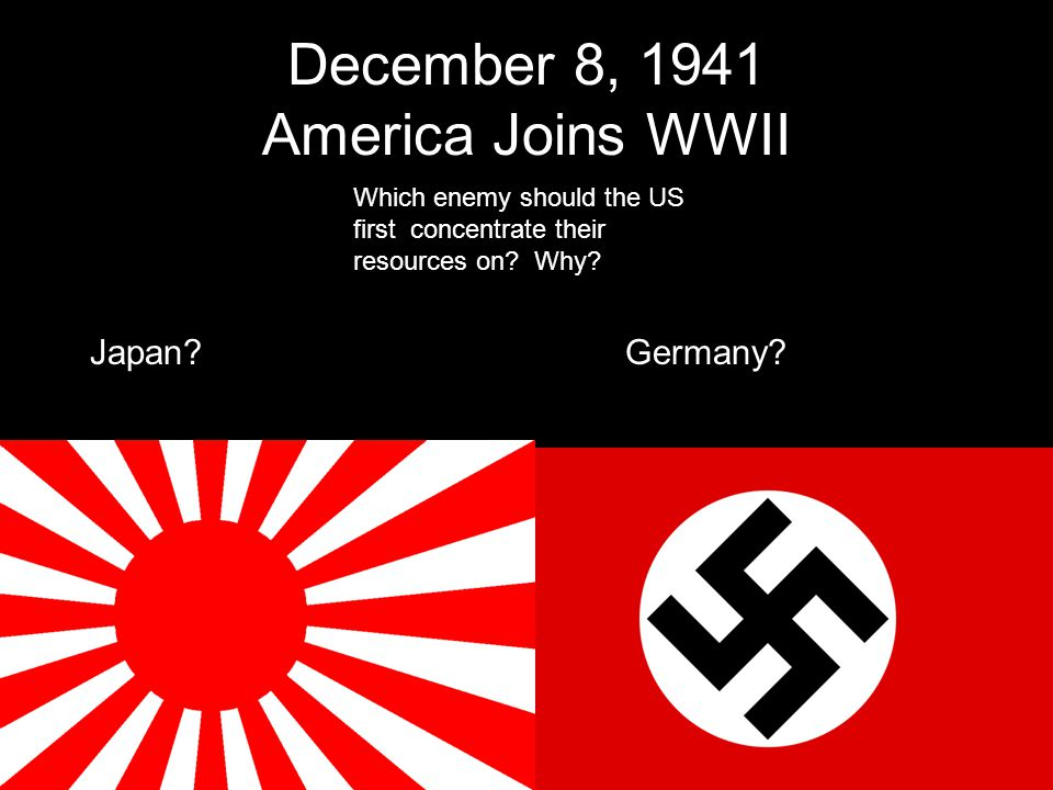 December 8, 1941 America Joins WWII