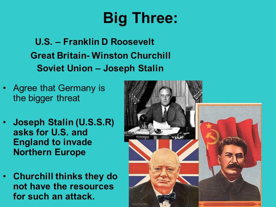 Big Three: U.S. – Franklin D Roosevelt