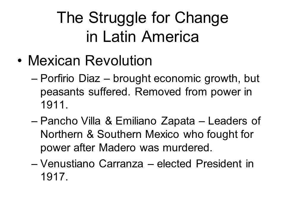 The Struggle for Change in Latin America