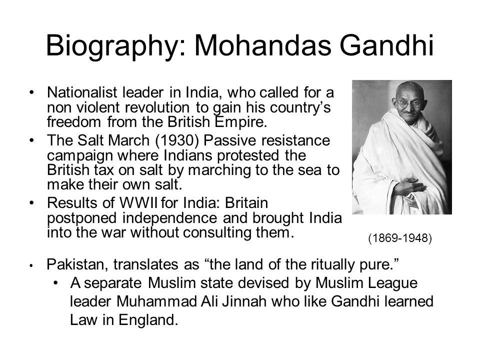 Biography: Mohandas Gandhi