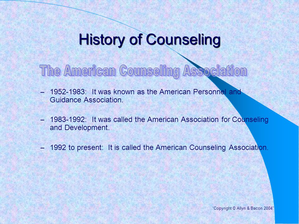 The American Counseling Association