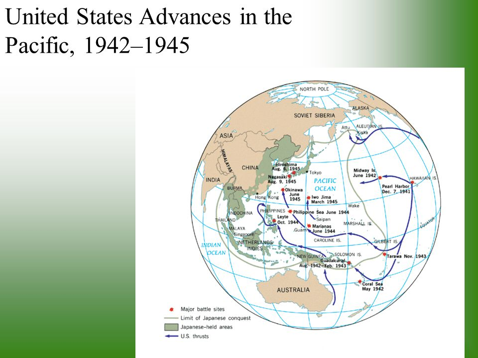United States Advances in the Pacific, 1942–1945