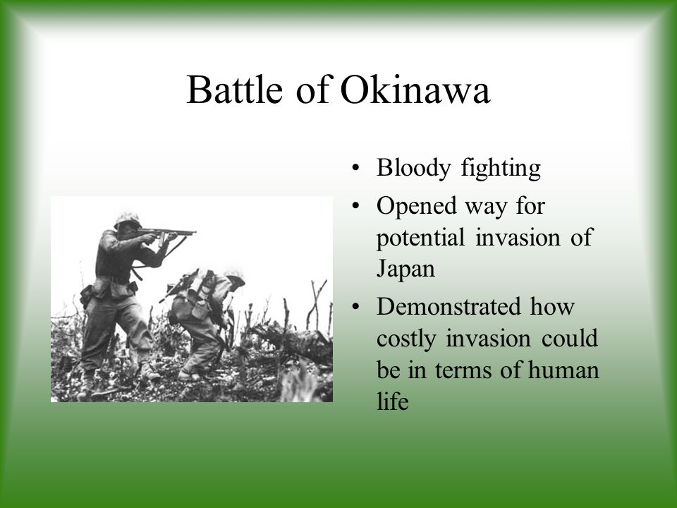Battle of Okinawa Bloody fighting