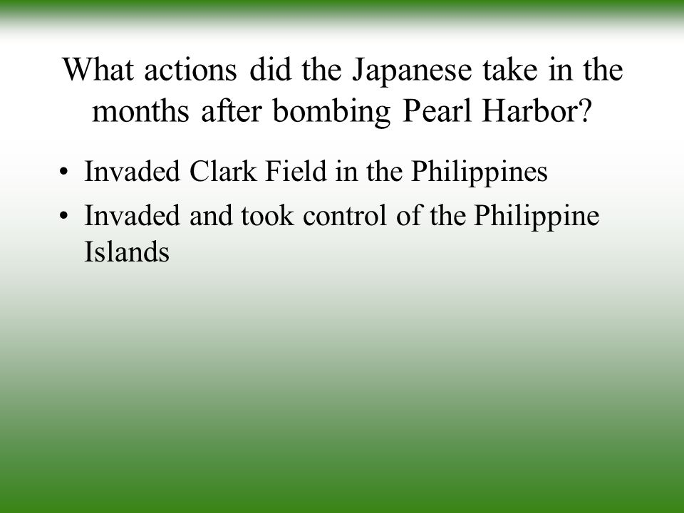 What actions did the Japanese take in the months after bombing Pearl Harbor