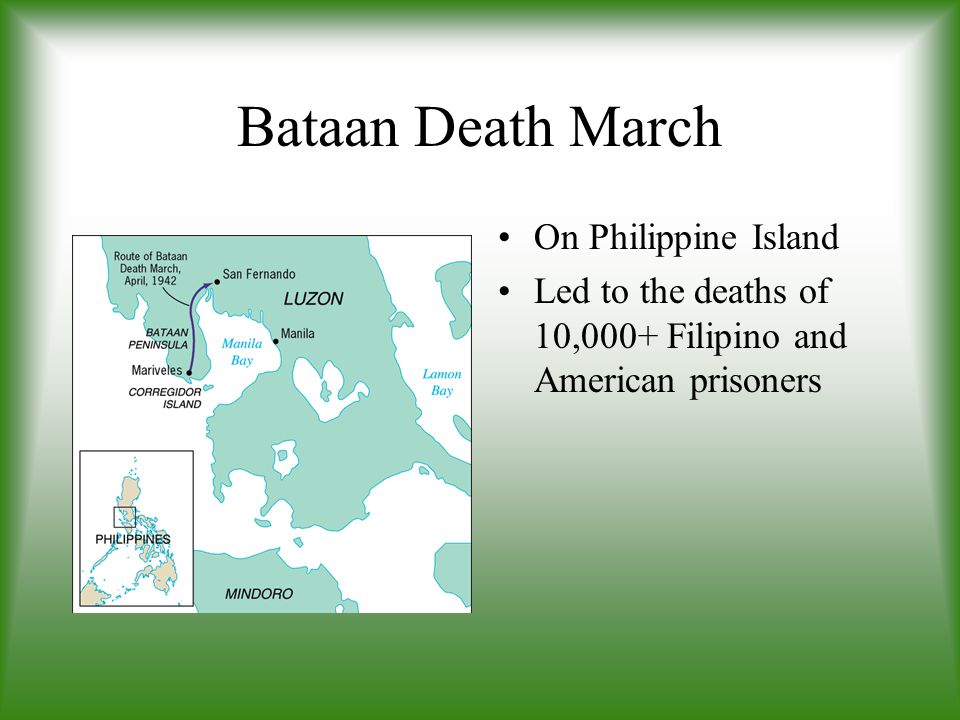 Bataan Death March On Philippine Island