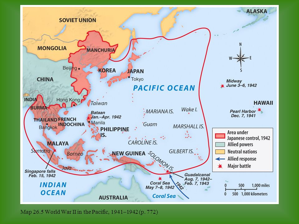 Map 26.5 World War II in the Pacific, 1941–1942 (p. 772)