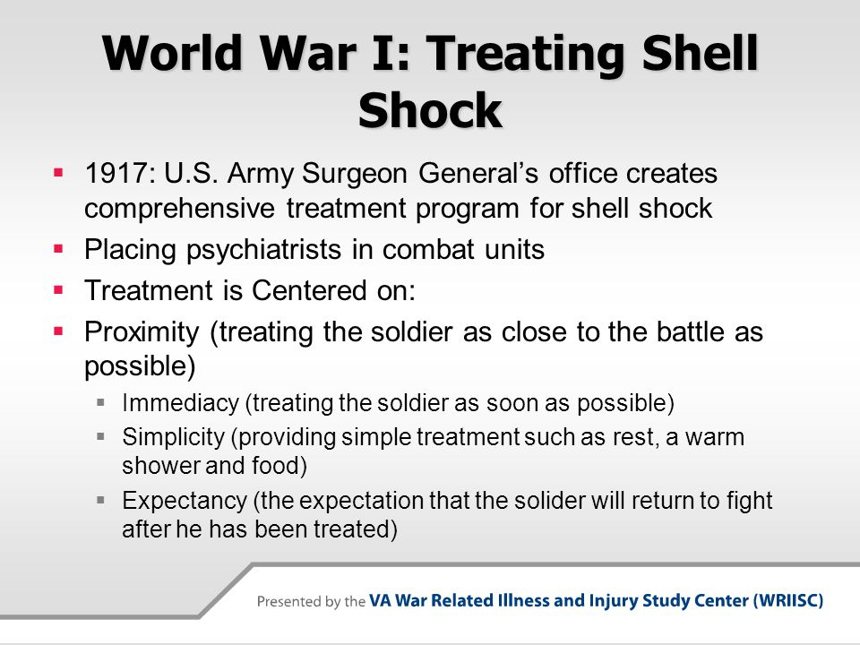 World War I: Treating Shell Shock