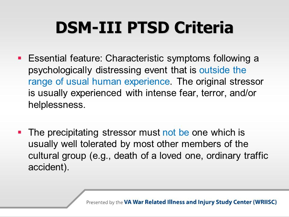 DSM-III PTSD Criteria