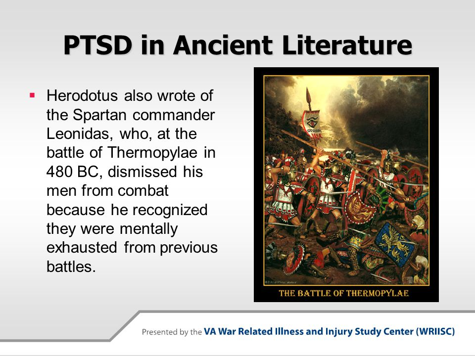 PTSD in Ancient Literature