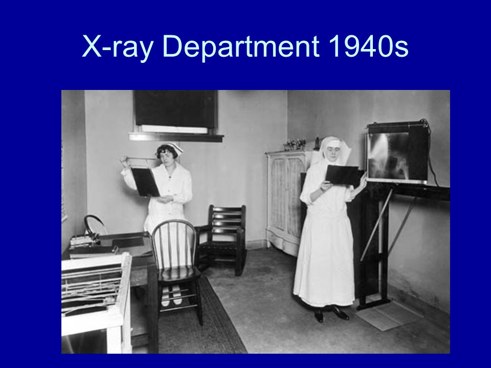X-ray Department 1940s