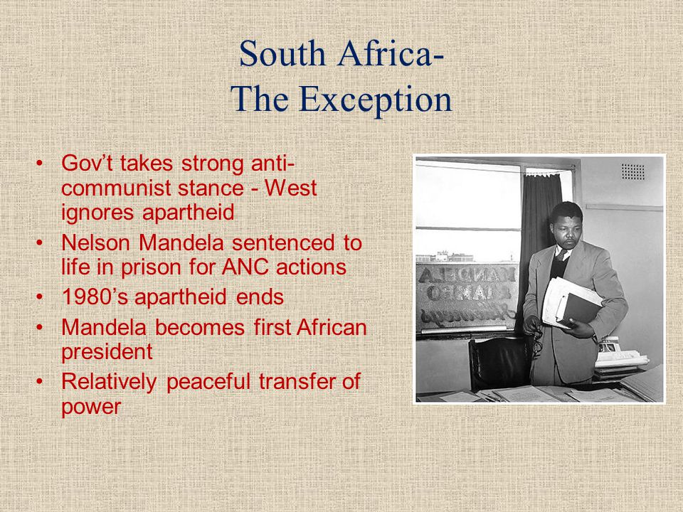 South Africa- The Exception