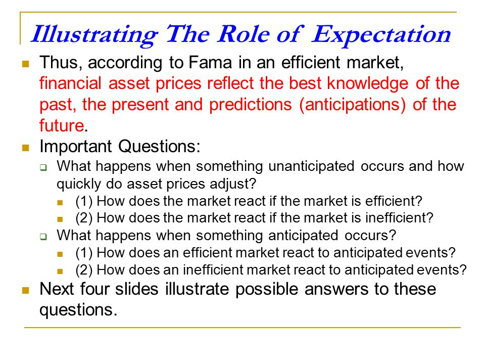 Illustrating The Role of Expectation