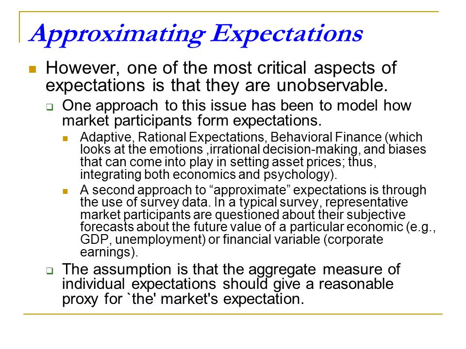 Approximating Expectations