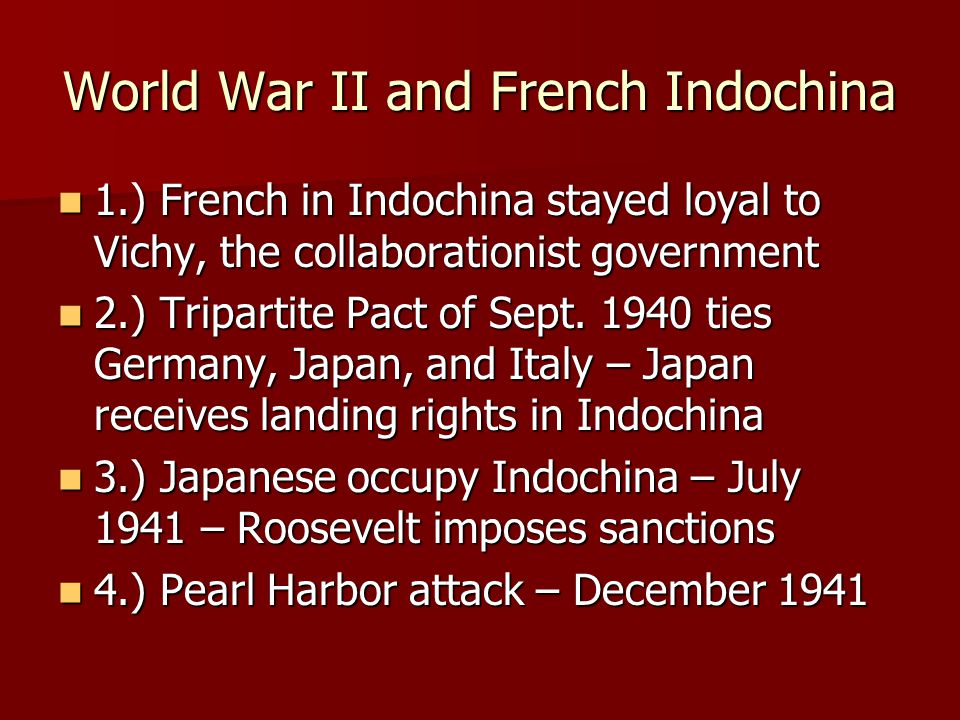 World War II and French Indochina