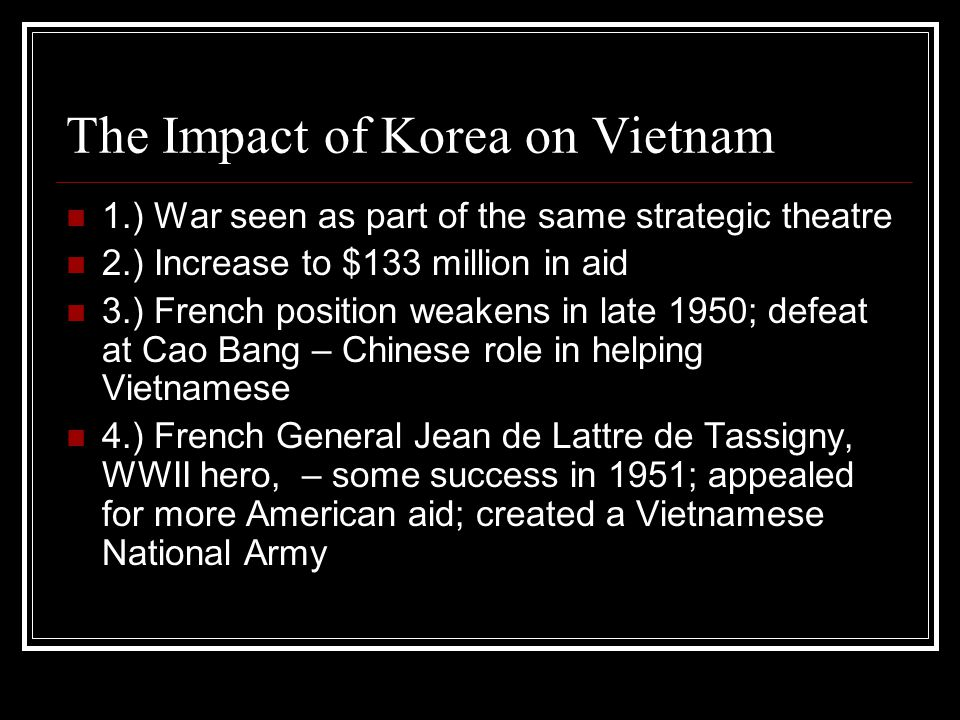 The Impact of Korea on Vietnam