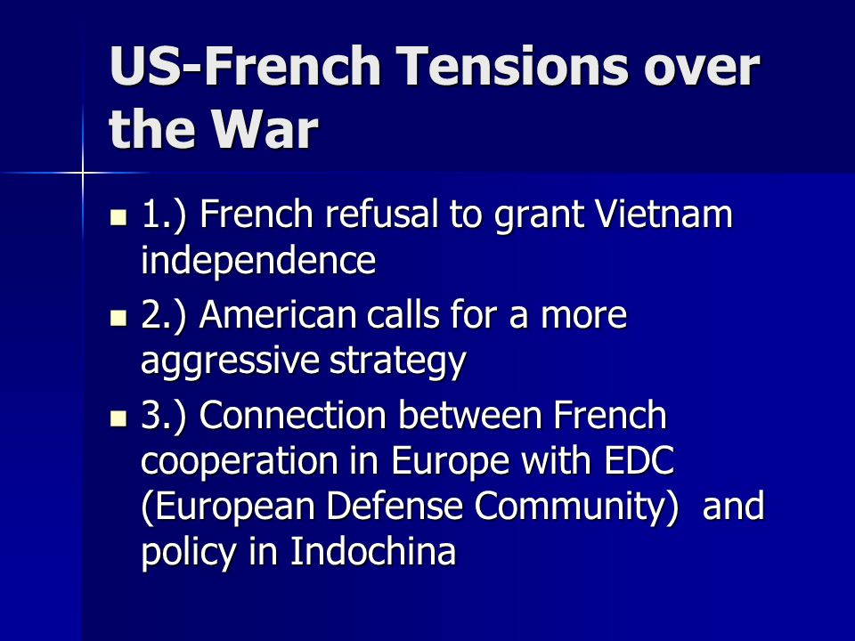 US-French Tensions over the War
