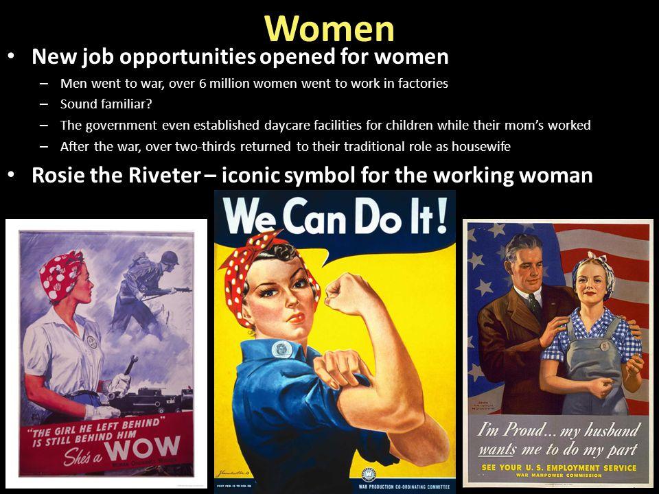 Women New job opportunities opened for women