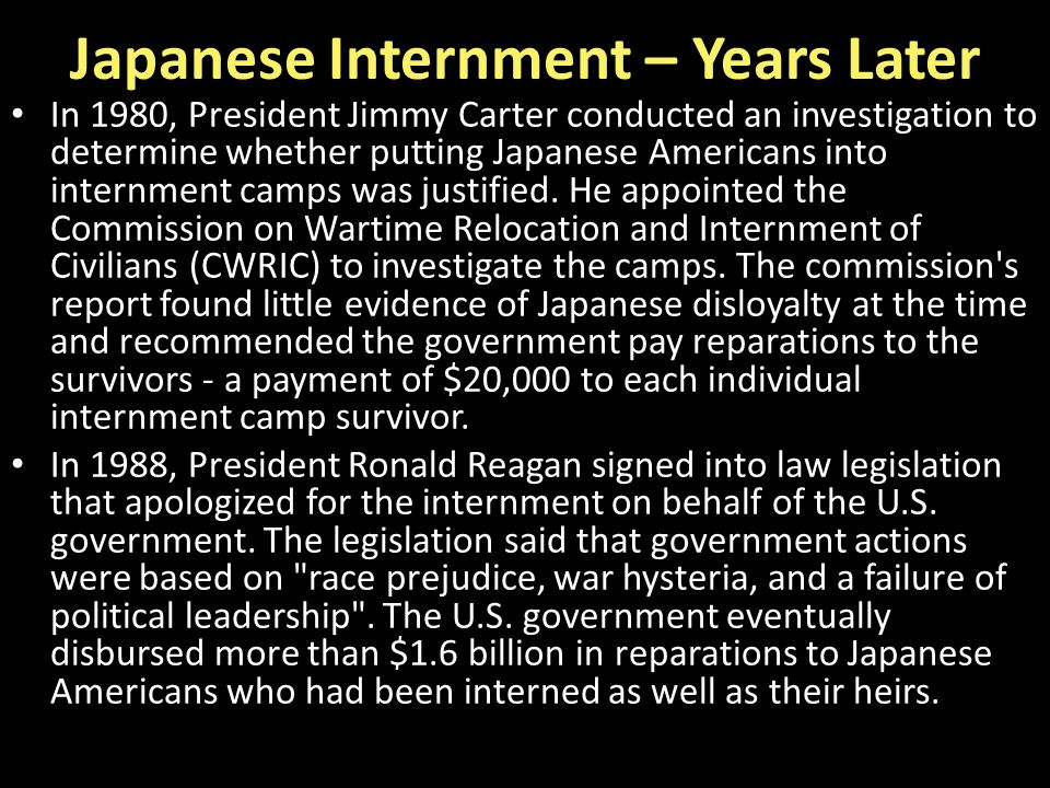 Japanese Internment – Years Later