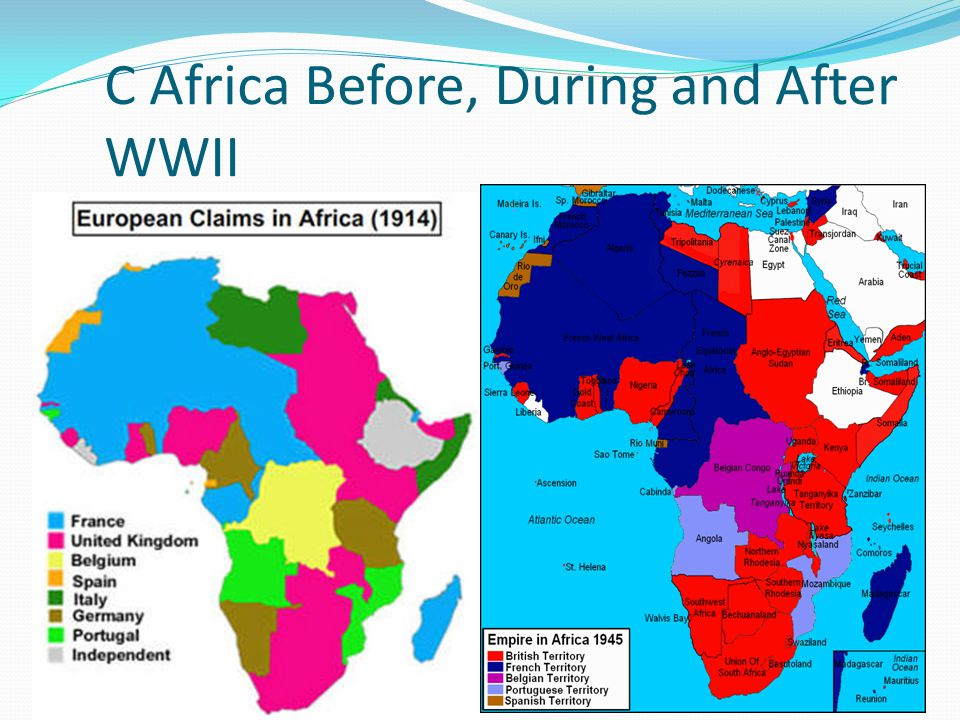 C Africa Before, During and After WWII