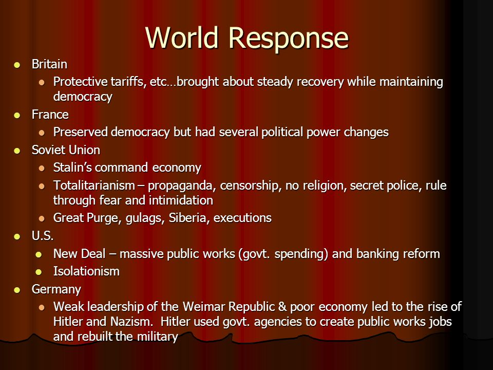 World Response Britain