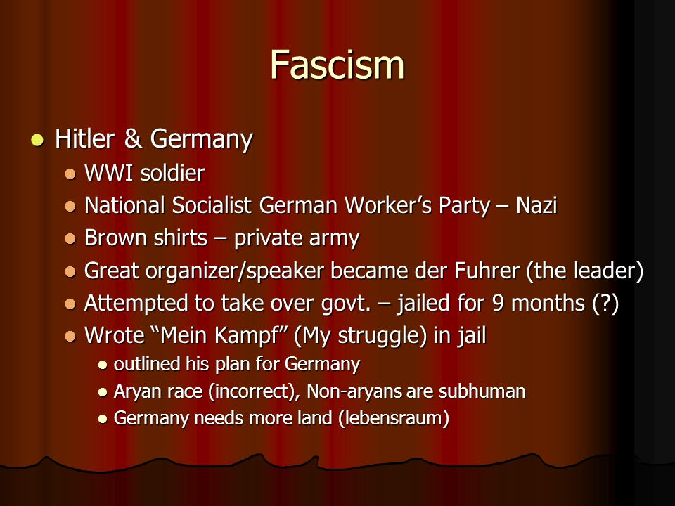 Fascism Hitler & Germany WWI soldier