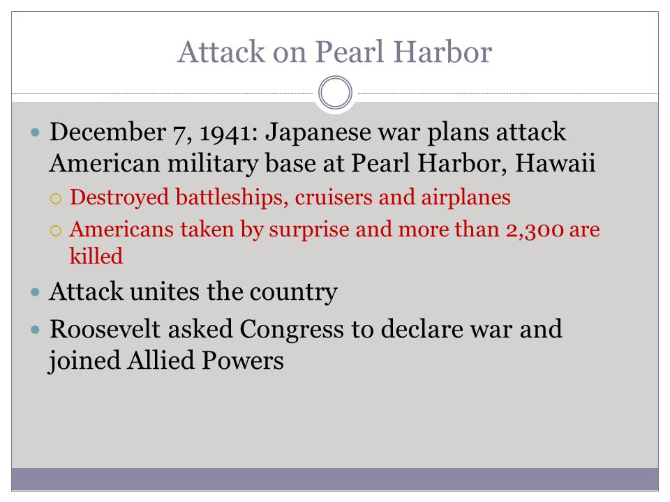 Attack on Pearl Harbor December 7, 1941: Japanese war plans attack American military base at Pearl Harbor, Hawaii.