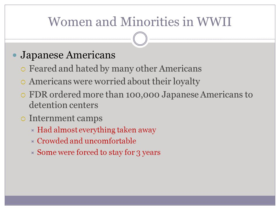 Women and Minorities in WWII