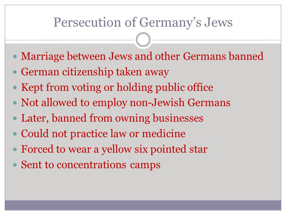 Persecution of Germany's Jews