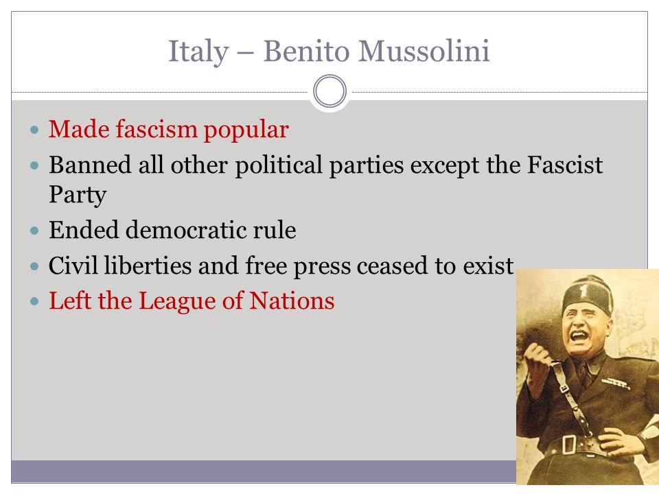 Italy – Benito Mussolini