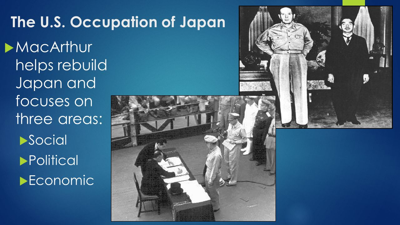 The U.S. Occupation of Japan