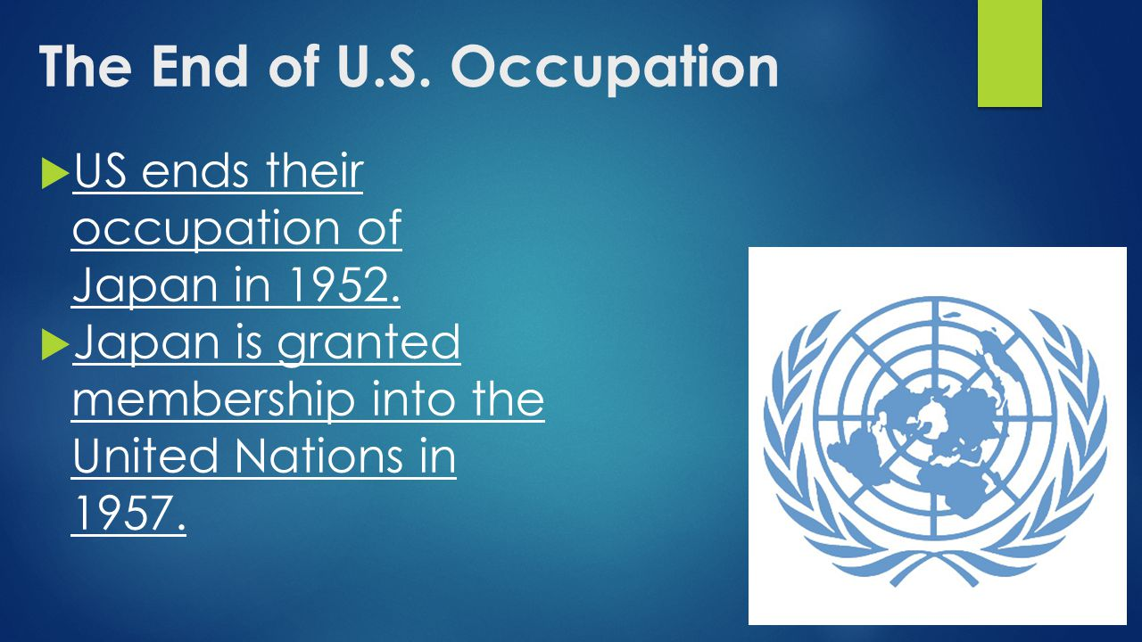 The End of U.S. Occupation