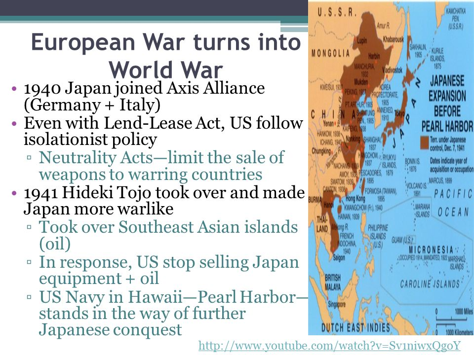 European War turns into World War