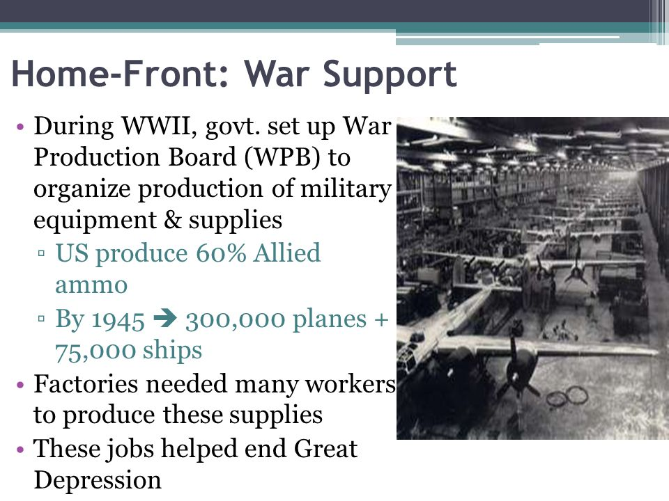Home-Front: War Support